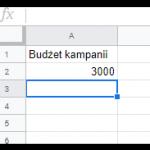Pozostały budżet na koncie Google Ads pokazany jako dana w Google Data Studio